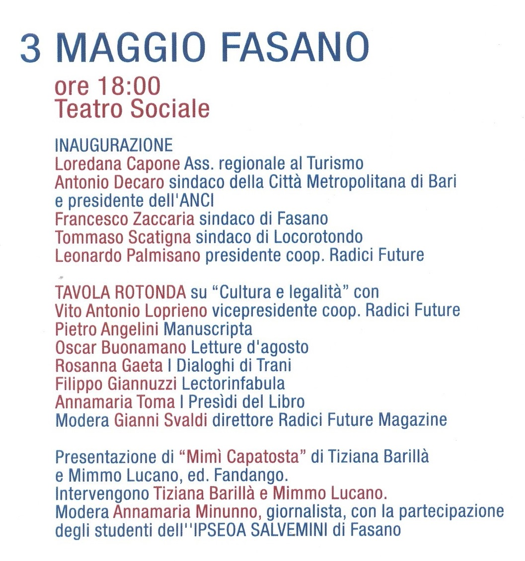Calendario Eventi Martina Franca.Comune Di Fasano Br Inaugurazione Di Legalitria Il