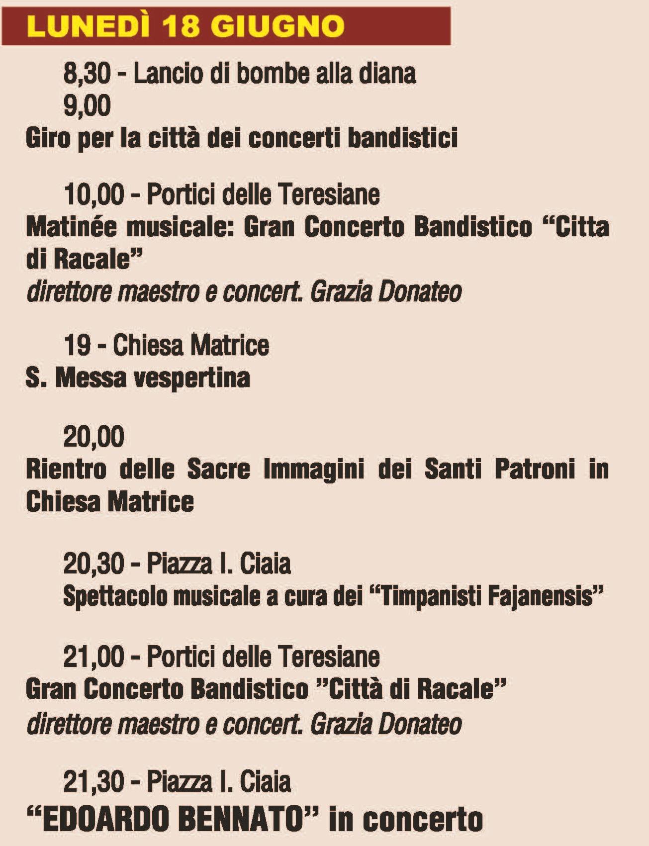 Calendario Feste Patronali Puglia.Comune Di Fasano Br Festa Patronale 2018 Programma Di